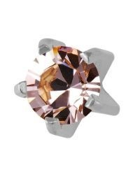 Studex Sterile 3mm - Clear Crystal STAINLESS Ear Stud (Pairs)