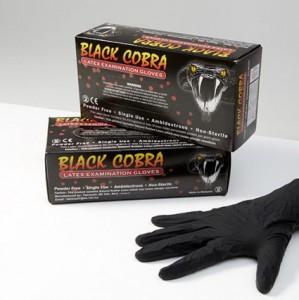 Black Cobra - Black Latex Gloves