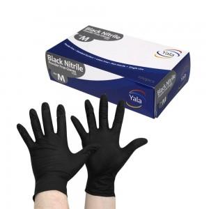 Black Nitrile Gloves - Powder Free  1 x 100