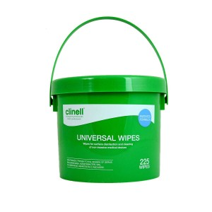 Clinell Universal Disinfectant Wipes x 225 - Bucket