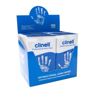 Clinell Antimicrobial Hand Wipes x 100
