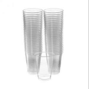 Disposable Plastic Cups - Clear x 100
