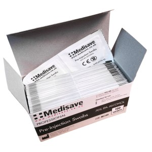 Professional 70% Alcohol IPA Pre-Injection Swabs