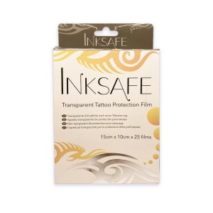 Inksafe Transparent Tattoo Protection Film Sheets - Pack of 25