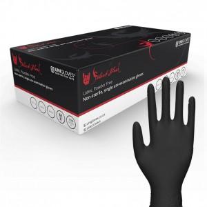 Uniglove Select Black Latex Gloves (Box of 100)
