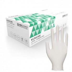 Uniglove - Unicare Latex Non-Powdered Gloves - Natural (Box of 100)