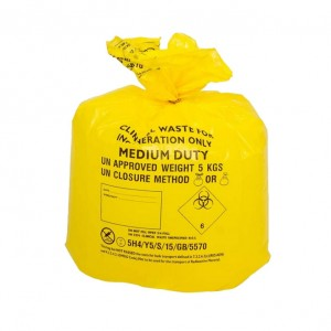 Yellow - Clinical Waste Sacks - 90 Litres x 50